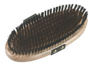 Grooming Brush with Brass Bristles