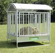 Square Hay Rack for Horses with Safety Feeding Barrier